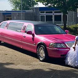 Lincoln Limousine - Roze Glitter 6